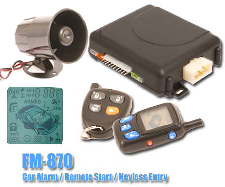 Fm 870 2 Way Car Alarm Remote Starter With Lcd Pager At Commando