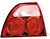Altezza Euro Tail Lights 94-95 Accord (Jaguar Style All Red)